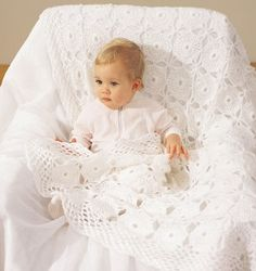 Precious Pearls Lace Baby Blanket