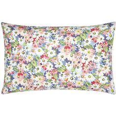 Cath Kidston Painted Daisy Pillowcase (12 CAD) ❤ liked on Polyvore featuring home, bed & bath, bedding, bed sheets, pillows, blue, spring bedding, polka dot pillowcases, blue bedding and blue polka dot bedding