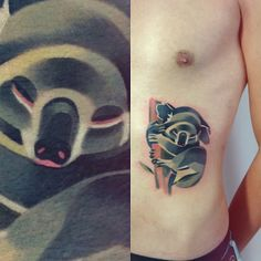 Koala tattoo by Sasha Unisex. Love her work!