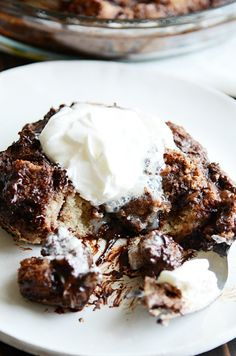 Warm, comforting, stick-to-your-ribs chocolate bread pudding from my family cookbook. Easy to make, easy to eat! There's something about bread pudding that I find to be incredibly comforting. Ok. Maybe there'slots of somethings. I love eating it fresh and warm. It's thick and hearty and just sticks to your bones, you know? And the smell– …
