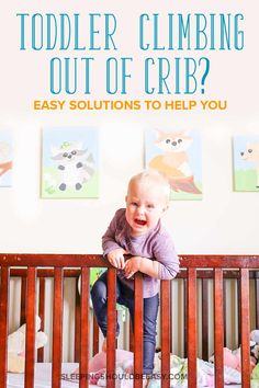Learn how to prevent climbing out with these clever toddler climbing out of crib solutions, extend crib-sleeping days or transition into a toddler bed. Parenting Fail, Parenting Toddlers, Toddler Bed Transition, Toddler Climbing, Kids Sleep, Toddler Sleep, Baby Sleep, Thing 1, Toddler Discipline