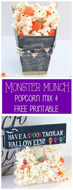 Monster Munch and Printable