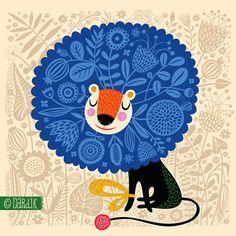 lion illustration by helen dardik via her blog orange you lucky!