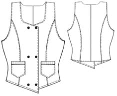 example - #5360 Vest with pockets