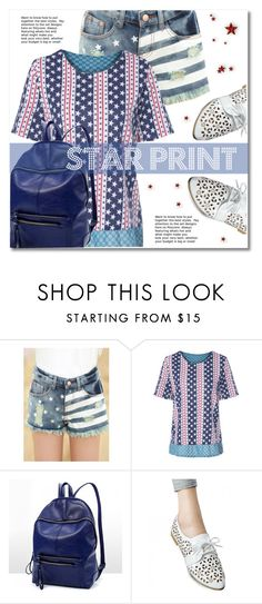 """""""Star Print"""" by svijetlana ❤ liked on Polyvore featuring stars, polyvoreeditorial and twinkledeals"""
