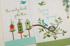 Early Bird Printed Kitchen Towels