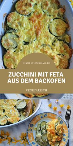 Baked zucchini - delicious recipe for zucchini slices with feta, Pancake Healthy, Vegan Blueberry, Queso Feta, Bake Zucchini, Evening Meals, Cooking Time, Dinner Recipes, Easy Meals, Veggies