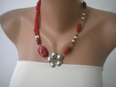 Love this red necklace!