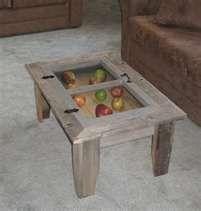 Barn Wood Coffee Table With Hinged Window Top Old Ideas