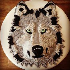 Wolf Birthday Cake cakepins.com
