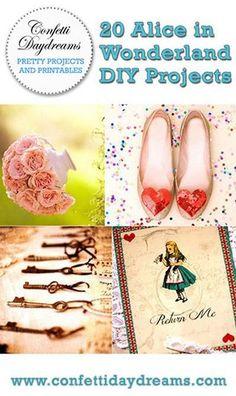 20 DIY Alice in Wonderland Tea Party Wedding Ideas & Inspiration