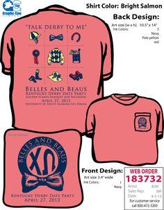Chi Omega Kentucky Derby Sorority Shirt