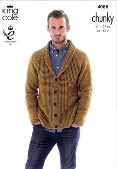 New Royal Class Men/'s Grey Wool Blend Funnel Neck Cardigan Jumper Sweater Size L