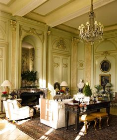 I've been having a lot of conversations about chateaux in relationship to my upcoming trip. Seems I'm not the only one who dreams of buying a fixer upper in France.  When that time comes (after I win the lottery) the first person I will call for advice is designer Timothy Corrigan. He purchased his 18th-century […]