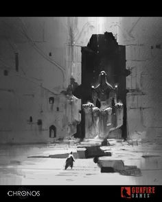 Chronos concept art 3 by Skiorh on DeviantArt Environment Sketch, Environment Design, Fantasy Concept Art, Game Concept Art, Value Painting, Value In Art, Composition Art, Landscape Concept, Futuristic Art