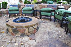 FirePits are a great addition to any outdoor living space and is great for entertaining! www.stonemakers.net