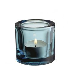 Iittala Kivi Sea Blue Tealight Holder