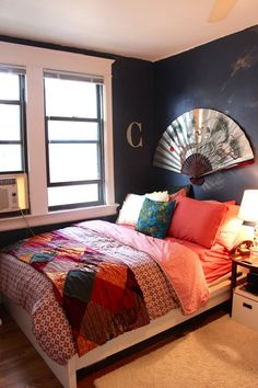 """Christina's """"Globe Trekker Blues"""" Room Room for Color Contest 