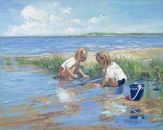 sally swaland | Sally Swatland Paintings - Sally Swatland Best Friends Painting