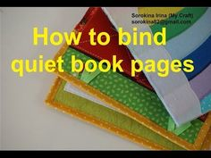 How to bind quiet book pages - YouTube