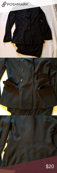 Black Pant Suit Black Pant with lining. Says size 8 but more of size 6. please ask for measurements if needed. No tears or stains. Jackets & Coats Blazers