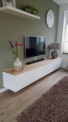 for bedroom wohnung decoration 2186 Living Room Decor On A Budget, Ikea Living Room, Living Room Designs, Tv On Wall Ideas Living Room, Oak Living Room Furniture, Tv Furniture, Decoration Bedroom, Room Decorations, Wall Decor