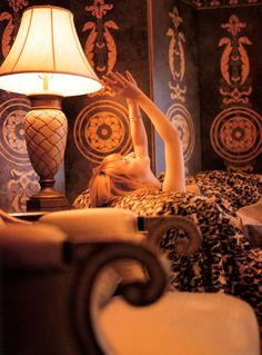 A steampunk room complete with a glorious lady, Ayumi Hamasaki.
