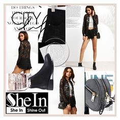"""SHEIN"" by damira-dlxv ❤ liked on Polyvore featuring Oris and Balmain"