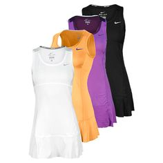 Nike Women`s Flouncy Knit Tennis Dress, could be worn for golf also, with shorts Tennis Dress, Tennis Clothes, Tennis Wear, Sporty Outfits, Athletic Outfits, Tennis Outfits, Swimming Outfit, Swimming Clothes, Tennis Workout