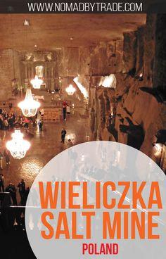 The Wieliczka Salt Mine near Krakow, Poland (a UNESCO World Heritage Site) takes visitors through a maze of salt sculptures and includes an underground chapel complete with salt chandeliers. Poland | Krakow | St. Kinga | Salt Mine | Things to do in Krakow | #Poland | #Krakow