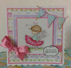 Handmade card using Lili of the valley stamps