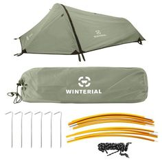 Top Ranked Bivy Tent The Winterial Single Person Tent is perfect for 3 seasons of camping and hiking.This three-season tents offer more open-air netting is specifically designed for summer backpacking