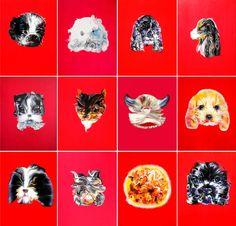 《闪耀的狗》Shining Dogs 150 cm x 120 cm 布面油画  Oil on Linen