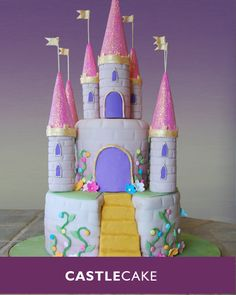 Princess Castle Cake: absolutely unbelievable.. the glitter is edible too!