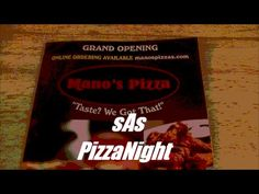 sAs PizzaNight: Mano's Pizza (Grand Opening)