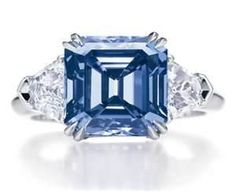 Harry Winston Blue Diamond Ring