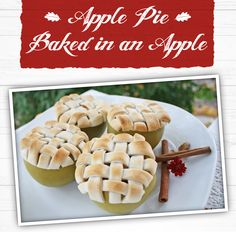 Apple Pie Baked in an Apple - Machine Shed Cake Recipes For Beginners, Baked Apples, Fall Recipes, Apple Pie, Restaurant, Treats, Baking, Desserts, Projects