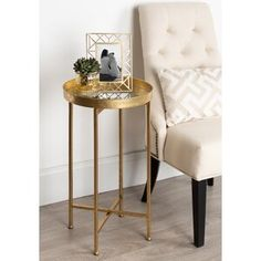 Mercer41 Keper Quarterfoil Infused Diamond Design 4 Panel Room Divider & Reviews | Wayfair Metal End Tables, Round Side Table, Round Tray, Barrel Chair, Living Room Furniture, Lane Furniture, Furniture Ideas, Living Rooms, Design