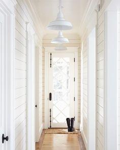 Door & hardware.  Bead board ceiling inset, shiplap paneling. InGoodTaste:MuskokaLivingInteriors