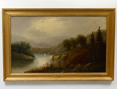Buy online, view images and see past prices for ATTRIBUTED TO THOMAS DOUGHTY (American. Invaluable is the world's largest marketplace for art, antiques, and collectibles. Fine Art Auctions, Hudson River, Small Paintings, Oil On Canvas, Landscape, American, Gallery, Sash, Sailing