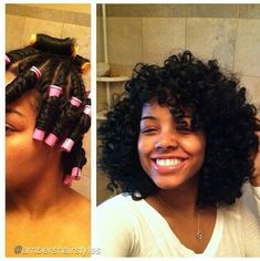 NEVER can get my hair like this........too cute,,,, - http://www.blackhairinformation.com/all-you-will-ever-need-to-know-to-grow-black-hair-long-and-healthy/ #twistoutsonnaturalhair