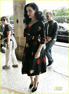 Dita Von Teese in that beautiful dress. This is how it's done.