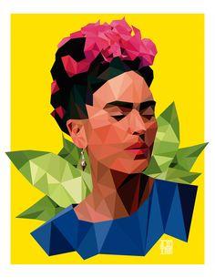 Frida Kahlo - Low poly on Behance