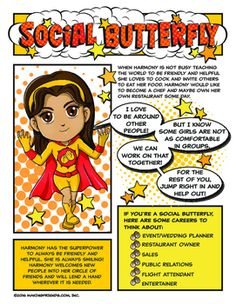 Superhero Harmony loves to cook and entertain! She wants to be a chef some day and maybe take over the family restaurant. Shell guide your girls through completing the Junior Social Butterfly badge with games and activities to keep your girls interest.