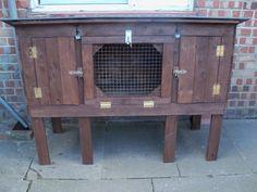 100 4822 600x450 Recycled Pallet Rabbit Hutch in garden diy  with Recycled rabbit pallet animal