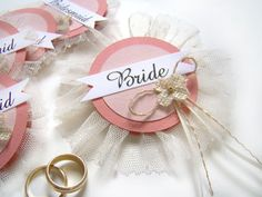 Bride's Corsage Bride Badge Bachelorette Party by TwiningVines