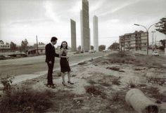 Ciudad Satélite, foto tomada sobre lo que hoy es periférico de sur a norte. Hoy en día aquí se encuentra la colonia florida. foto 1966