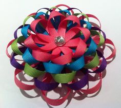 Loopy Flower Hair Clippies/HandMade Hair Accessories/Toddler/Infant/Newborn $8.99