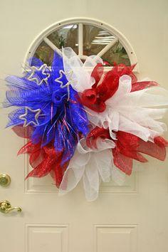 More patriotic geo mesh wreaths