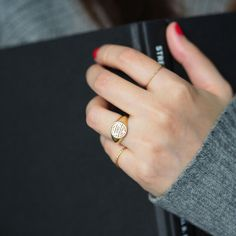 The Health lady signet ring. 3D printed magic!